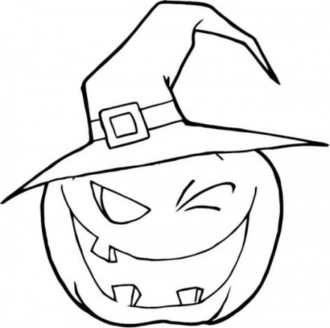 Halloween-Pumpkin-Winking-A-Witch-Hat