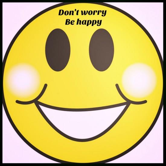 caritafelizfrase no te ´preocupes se feliz