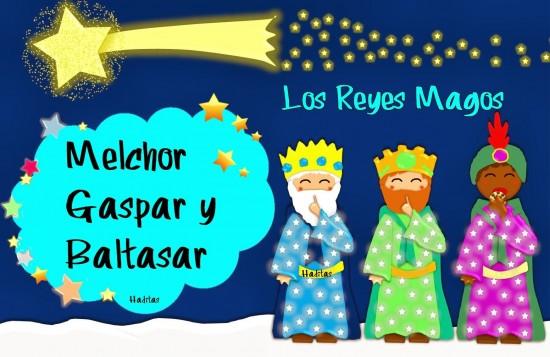 Tres Reyes Magos Estrellas Animados Navidad Reyes Magos