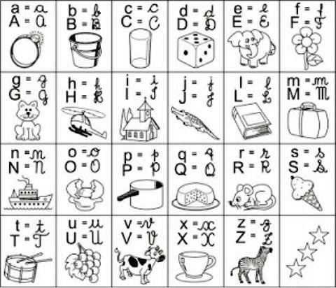 Abecedario Imágenes Del Alfabeto Para Imprimir