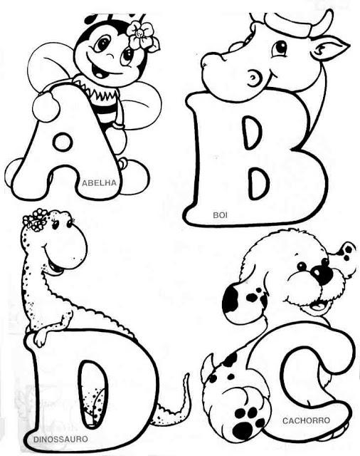 Abecedario: imágenes del Alfabeto para imprimir | Saberimagenes.com