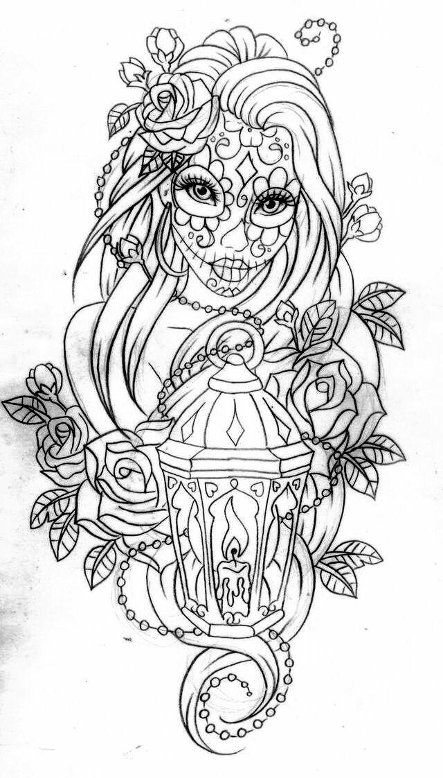Dibujos De Catrinas Y Calaveras Para Colorear El Día De Muertos