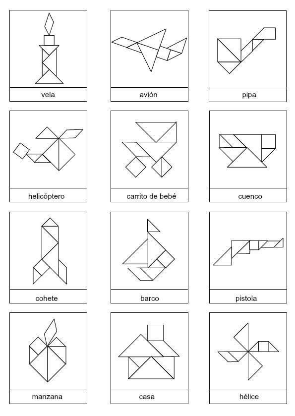 Figuras Tangram Para Imprimir Y Jugar Saberimagenescom