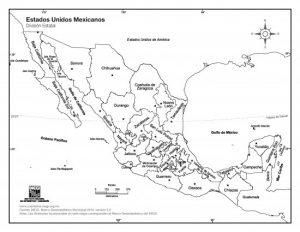 Los 32 Estados De México Con Sus Capitales Mapa Con