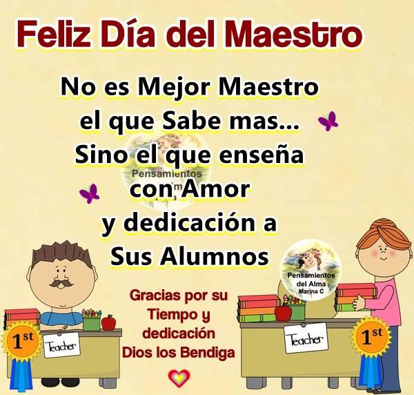 Imágenes Frases Mensajes De Feliz Día Del Maestro Para